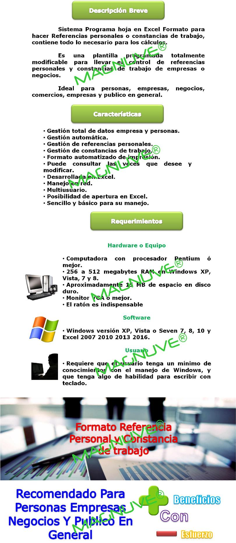 formato excel constancia trabajo referencia personal empresa