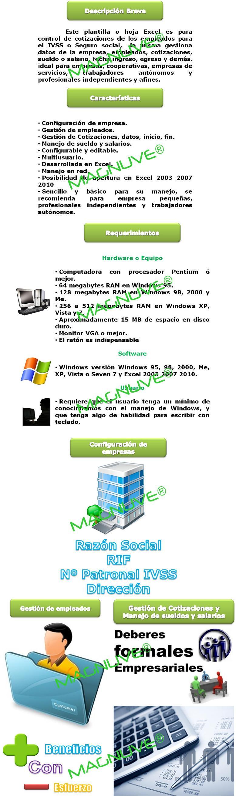 Plantilla Excel Control Registro Patronal Asegurados Ivss
